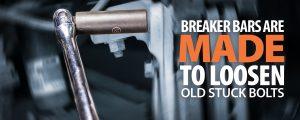breaker bar, brake caliper bolt stuck, caliper mounting bolt stuck