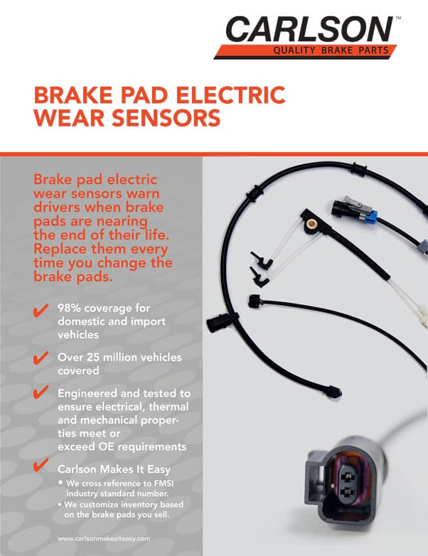 Brake Pad Electric Wear Sensors Flyer