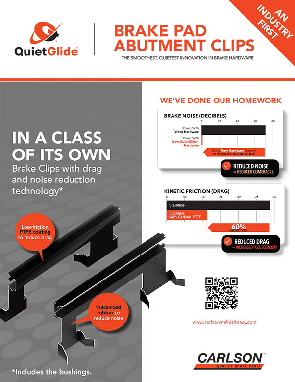 QuietGlide Brake Pad-Abutment Clips Flyer