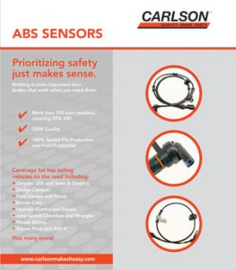 Carlson ABS Sensors Flyer Cover