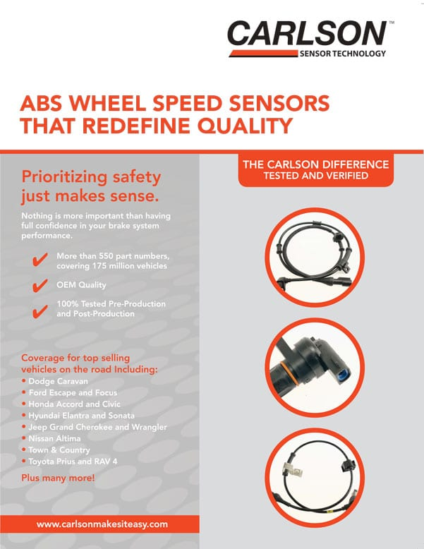 Carlson ABS Sensors Flyer 2019 cover