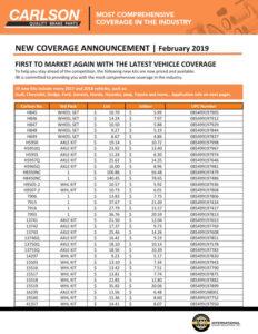 Carlson New Coverage February 2019