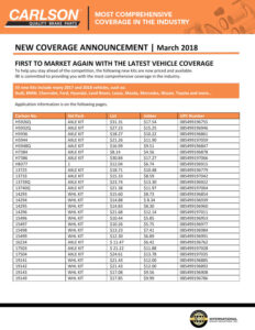 Carlson New Coverage March 2018