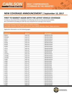 Carlson New Coverage September 2017